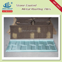 Shingle tile/durable stone coated steel roofing tile in Argentina