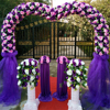 Decorative artificial plastic wedding flower arch for outdoor