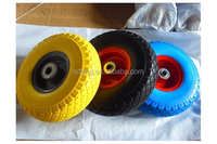 pu foam solid wheel , pu foam wheel for wheelbarrow , pu rubber foam wheel