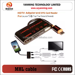 HDTV adapter MHL OTG card reader for android phone