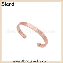 wholesale copper jewelry manufacturer supply Good Health Symbol yin yang copper bracelet/pure copper magnetic bracelet