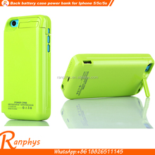 Ranphys colorful beautiful Battery Charging Power Case bank battery case for iPhone 5/5c/5s/5se