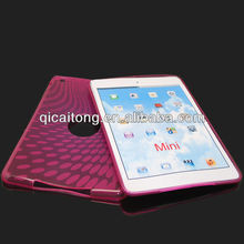 mobilephone tpu case with peacock pattern for ipad mini