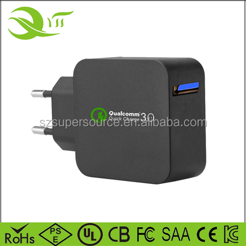 High-tech upgrade QC 3.0 mobile wall charger portable mobile charger for samsung galaxy s7 charger