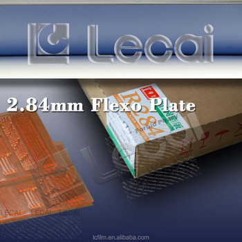 2.84mm thin China flexo solid plate, flexo printing plate