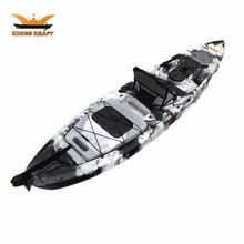 cheap single pedal drive kayak electrick fishing boat motor boat with rudder system