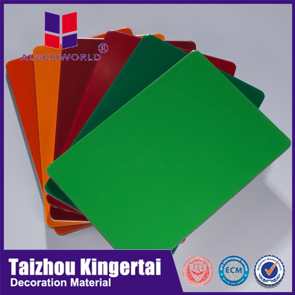 Alucoworld plastic panels for walls PVDF coating aluminum cladding sheets aluminum cladding price 4mm insulated acm sheet