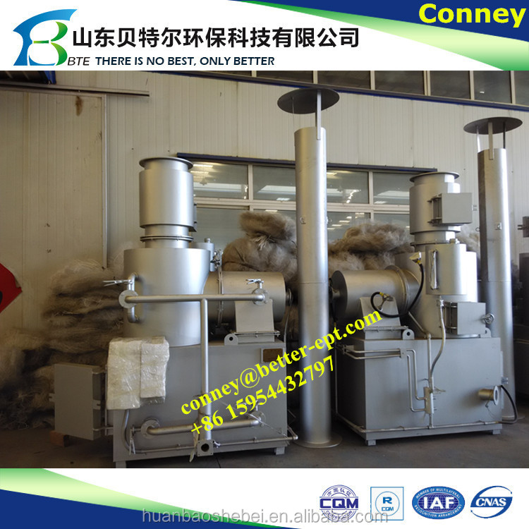 Cremation furnace for sale, incinerator for waste tire pyrolysis fuel oil equipment