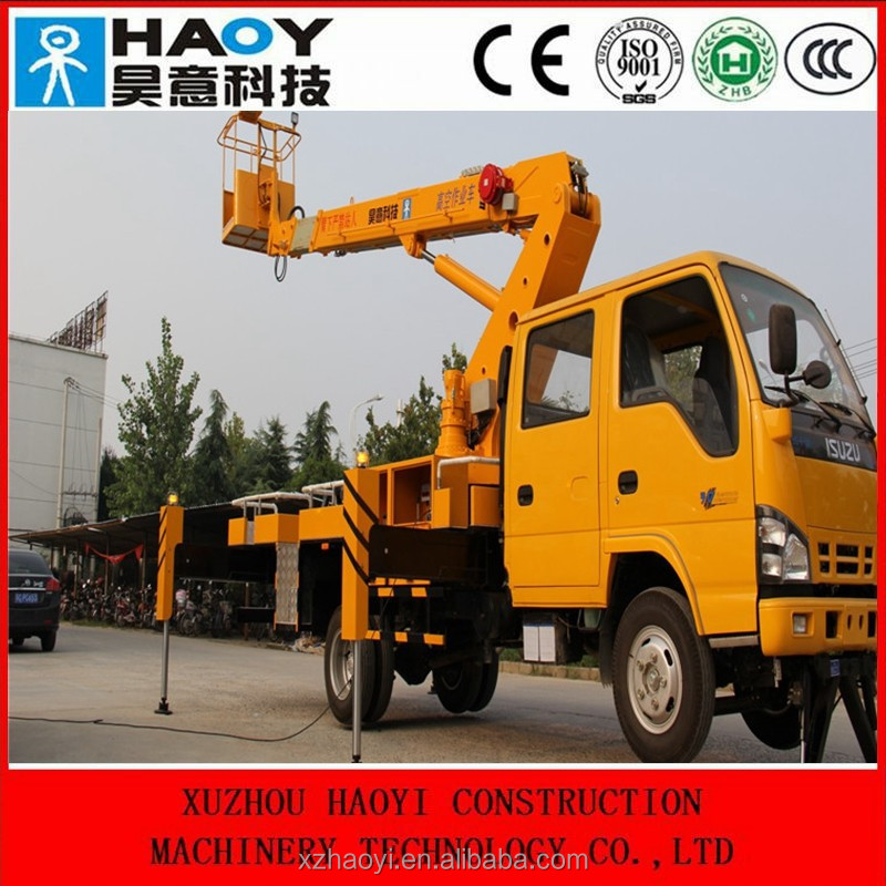 20m small hydraulic truck mounted aerial work platform with radio control for sale