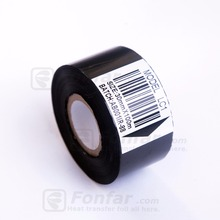 30mm * 122m Black LC1 Date Printer Ink Ribbon for Synthetic Films with Coding Machines