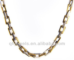 Stainless steel gold covering curb chain necklace gold chain for man cheap