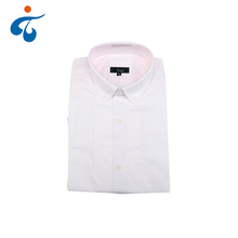Fashion wholesale spring cotton long sleeve plain white shirts for men
