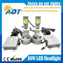 The new 5rd generation 6400lm Single beam 80w H7 H8 H9 H10 H11 9005 9006 H16 crees led chip head light kit for brand cars