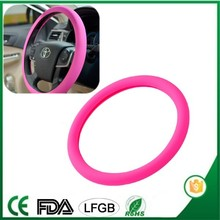 New design silicone Eco-friendly colorful car & bus steering wheel cover