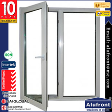 Guangzhou Alufront Aluminum Casement Window with European Standard