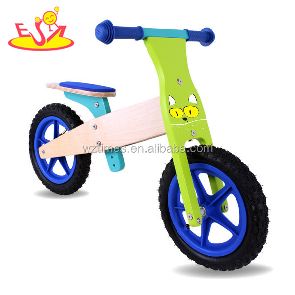 Wholesale cheap product wood color wooden walking balance bike for children W16C095-2