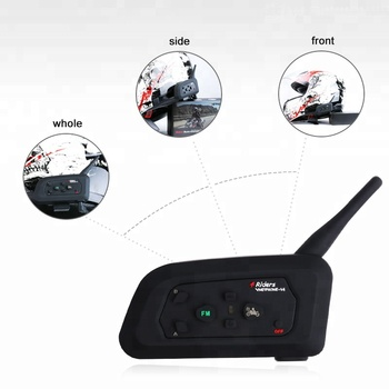 V4 4 riders intercom for motorcycle helmet communication intercom