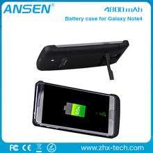 business partners wanted battery case with flip cover 4800mAh power charger case for samsung galaxy note 4 from shenzhen ansen