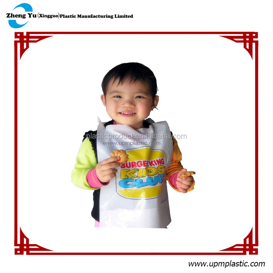 Degradable plastic baby bibs