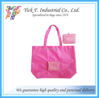 Pink Foldable / Folding shopping bag with Dot printing