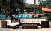 synthetic rattan outdoor furniture round