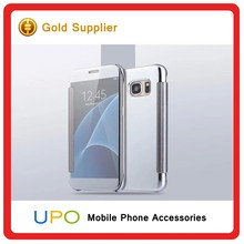 [UPO] Newest Luxury Clear View Mirror Flip Electroplating Phone Cases for Samsung Galaxy S6 S7