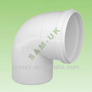 UPVC PLASTIC PIPE ELBOW FITTINGS WITH RUBBER