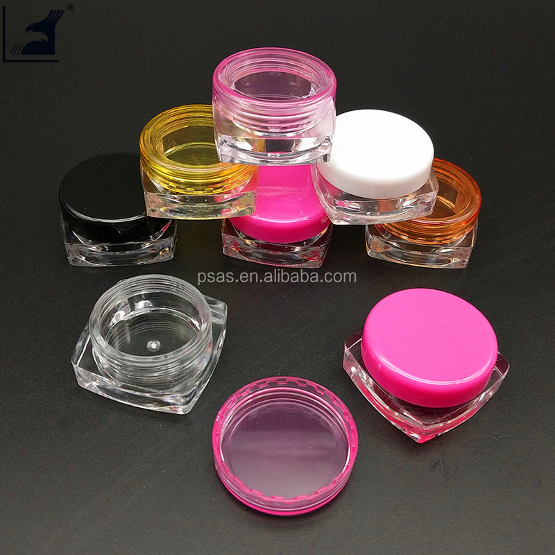 3g luxury Plastic Cosmetics Jars