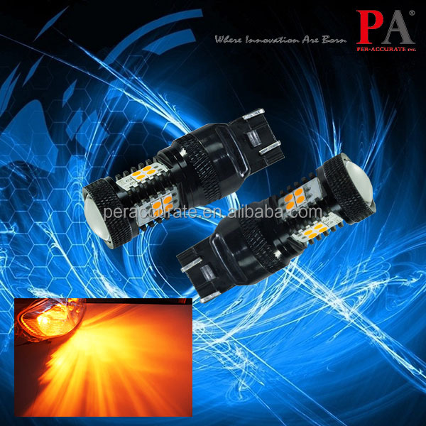 PA Turn Signal Light Bulb Yellow Amber Ultra Bright T20 7443 7440 3030 LED lens