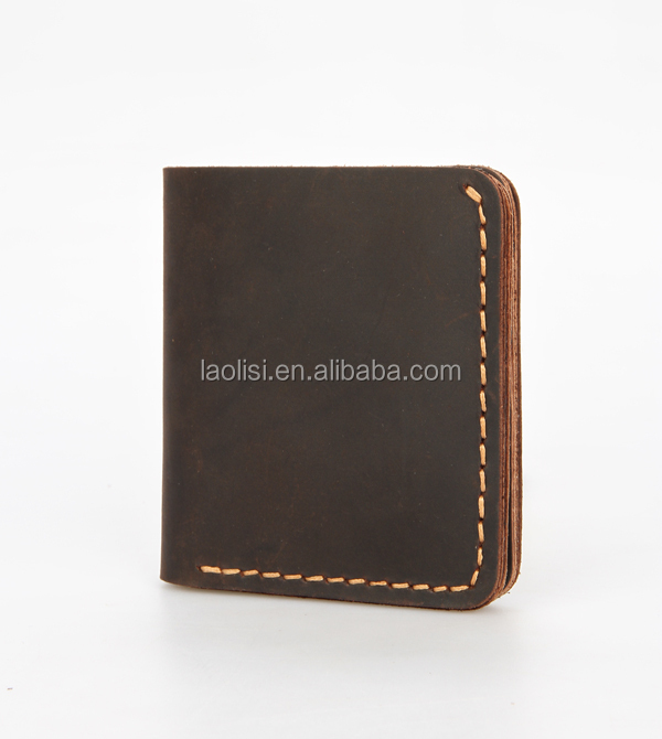 Crazy horse leather wallet for men factory wholesale price