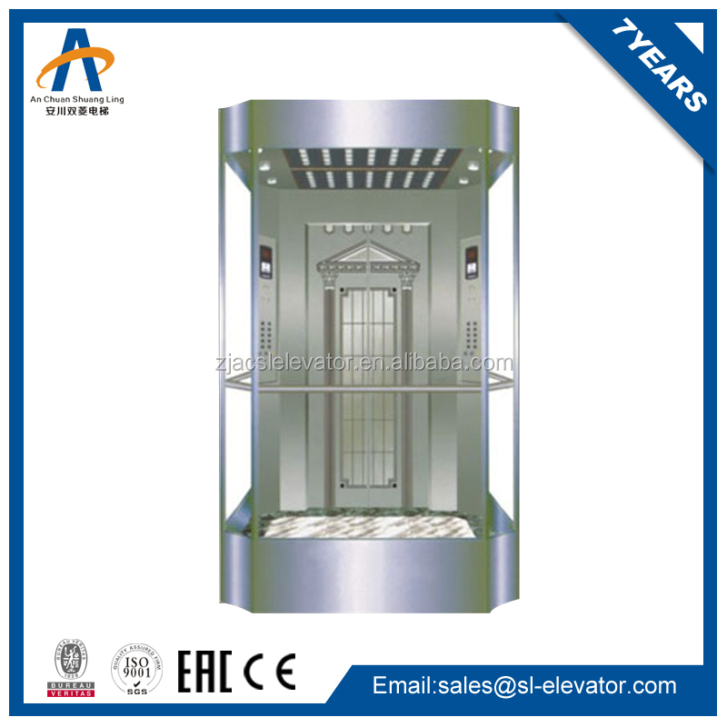 Small auto passenger home panoramic glass elevator round
