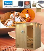 Steam shower sauna room for individual bungalows
