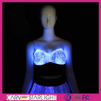 2016 hot sale fashion Luminous sexy new style bra top