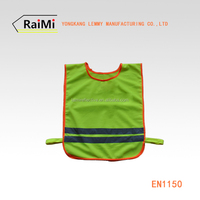 EN1150 hi visible green reflective glow in the dark vest children safety vest