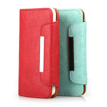 "Hot Wallet PU Leather Card Holder Magnetic Flip Cover Case for iphone 5"" original iphone 5s"