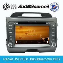 car stereo for sportage radio dvd cd gps with bluetooth can bus box steering wheel control SD USB 3G TV