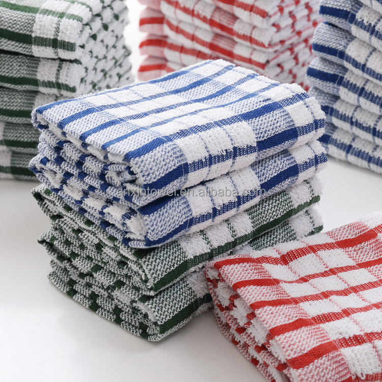 cotton kitchen towel yarn dyed towel oem design ,microfiber cleaning cloth