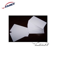 high quality Seaory white blank pvc card with both side film lamination