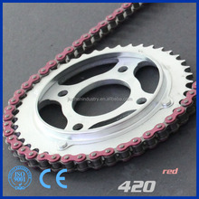 high quality 40Mn steel material motorcycle chain 420