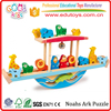 Factory Wholesale price Funny Toy Noahs Ark Hardwood Made Wood Balance Toy