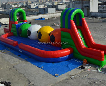 A6055 Wipeout inflatable course games for sale,adult inflatable wipeout big baller sport obstacle course game