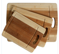 hot sale healthy 3 pcs kitchen bamboo cutting board