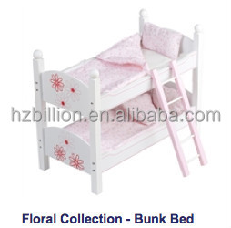 Personality 18 inch Doll cot Wooden Baby bunk bed Doll Furniture