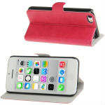 Cowhide Texture Flip Leather Case with Sleep / Wake-up Function & Holder for iPhone 5C