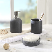 polyresin bathroom accessory set
