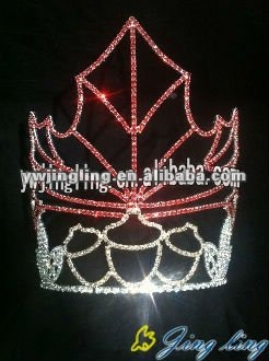 red stone and nut latest design tiara halloween crowns