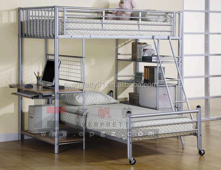 Mobile Single Bed Iron Steel Metal Bed Bedroom Furniture
