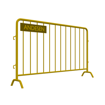 Galvanized stainless steel construction barricades