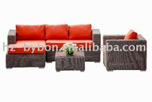 4-Piece Resin Wicker Outdoor Lounger Sofa Set