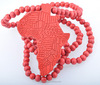 africa map necklace, Hip Hop wood beads pendant necklace(SWTJU807)
